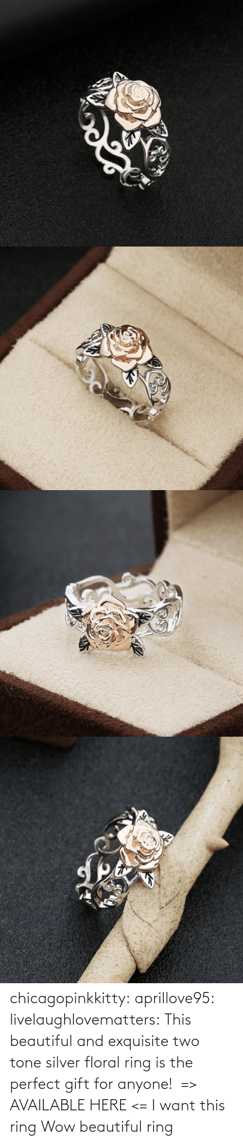gift: chicagopinkkitty: aprillove95:  livelaughlovematters:  This beautiful and exquisite two tone silver floral ring is the perfect gift for anyone! => AVAILABLE HERE <=    I want this ring     Wow beautiful ring