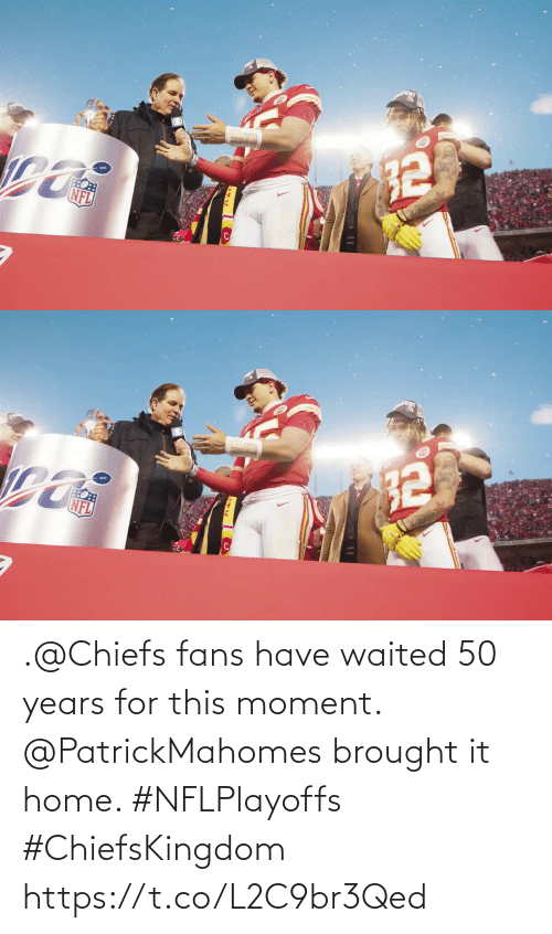 🤖: .@Chiefs fans have waited 50 years for this moment.  @PatrickMahomes brought it home. #NFLPlayoffs #ChiefsKingdom https://t.co/L2C9br3Qed