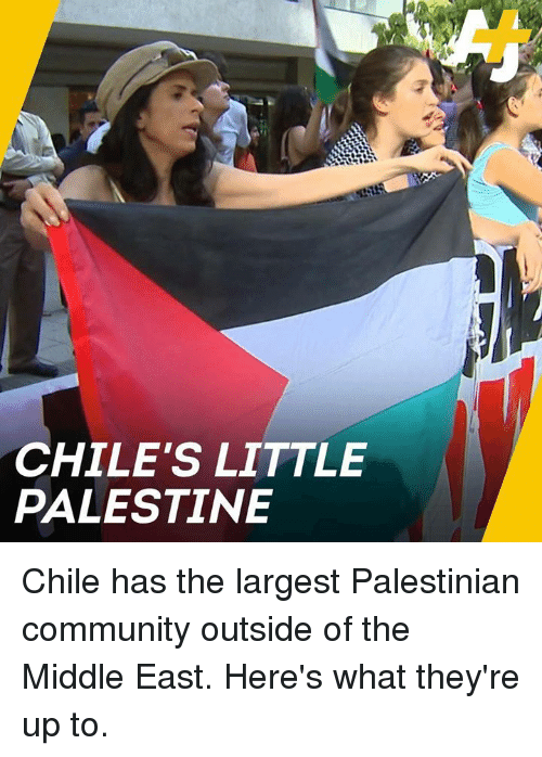 Community, Memes, and The Middle: CHILE'S LITTLE  PALESTINE Chile has the largest Palestinian community outside of the Middle East. Here's what they're up to.