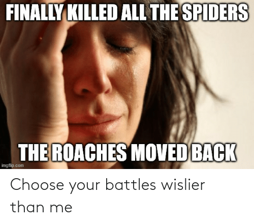 Choose Your: Choose your battles wislier than me