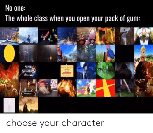 Choose Your: choose your character