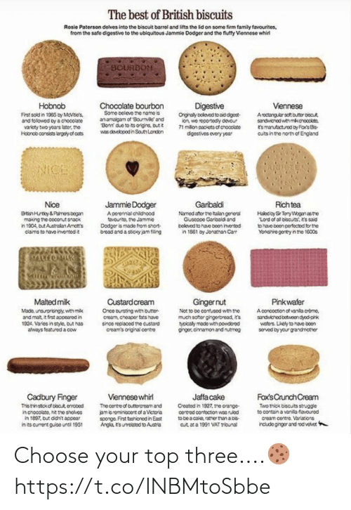 Choose Your: Choose your top three....🍪 https://t.co/INBMtoSbbe