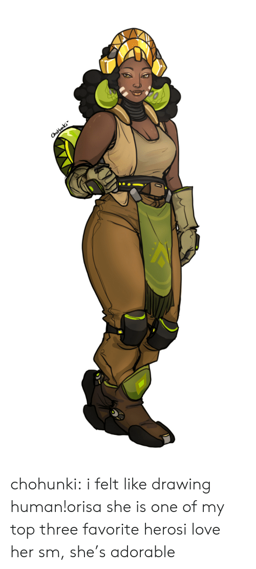 Love, Tumblr, and Blog: Chotunki chohunki:  i felt like drawing human!orisa she is one of my top three favorite herosi love her sm, she's adorable