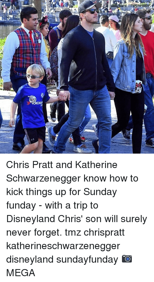 schwarzenegger: Chris Pratt and Katherine Schwarzenegger know how to kick things up for Sunday funday - with a trip to Disneyland Chris' son will surely never forget. tmz chrispratt katherineschwarzenegger disneyland sundayfunday 📷MEGA