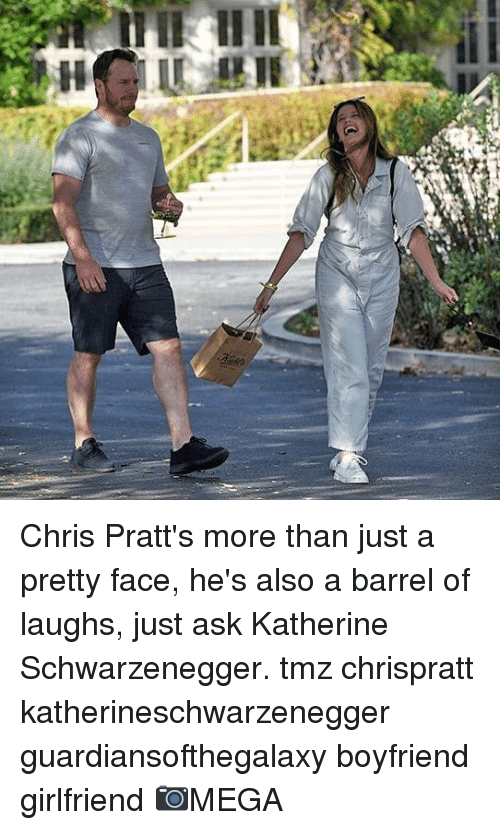 schwarzenegger: Chris Pratt's more than just a pretty face, he's also a barrel of laughs, just ask Katherine Schwarzenegger. tmz chrispratt katherineschwarzenegger guardiansofthegalaxy boyfriend girlfriend 📷MEGA