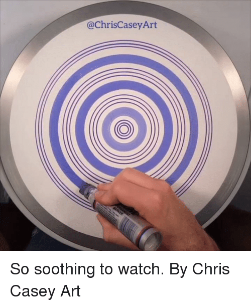 Dank, Watch, and 🤖: @ChrisCaseyArt So soothing to watch.  By Chris Casey Art