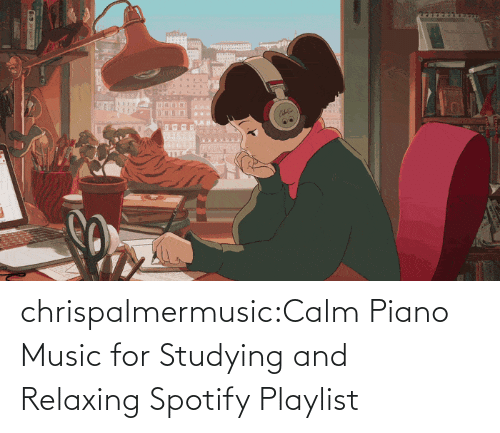 calm: chrispalmermusic:Calm Piano Music for Studying and Relaxing Spotify Playlist