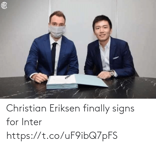 signs: Christian Eriksen finally signs for Inter https://t.co/uF9ibQ7pFS