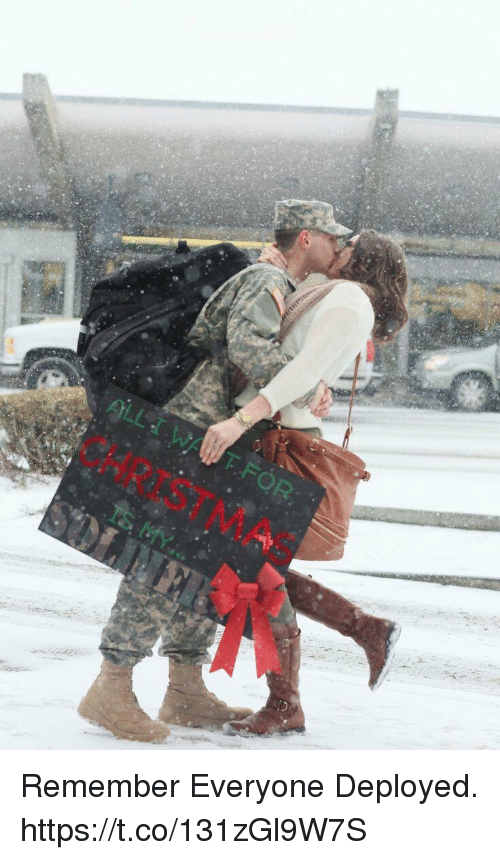 Christmas, Memes, and 🤖: CHRISTMAS  IS MY Remember Everyone Deployed. https://t.co/131zGl9W7S