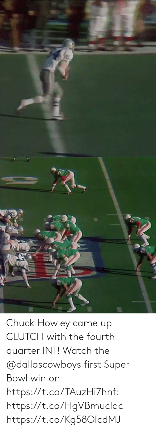 Super Bowl: Chuck Howley came up CLUTCH with the fourth quarter INT!  Watch the @dallascowboys first Super Bowl win on https://t.co/TAuzHi7hnf: https://t.co/HgVBmuclqc https://t.co/Kg58OIcdMJ