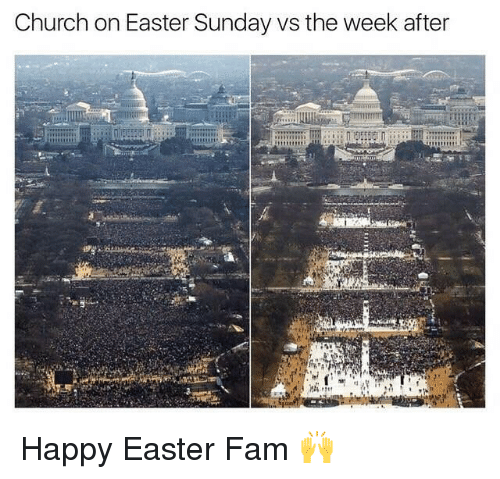 Church, Easter, and Fam: Church on Easter Sunday vs the week after Happy Easter Fam 🙌
