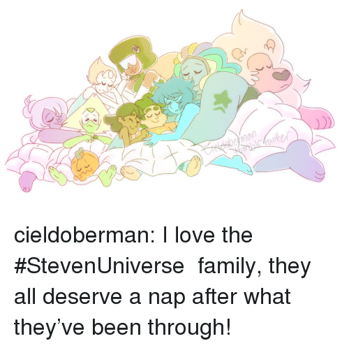 Family, Love, and Target: cieldoberman:  I love the #StevenUniverse family, they all deserve a nap after what they've been through!