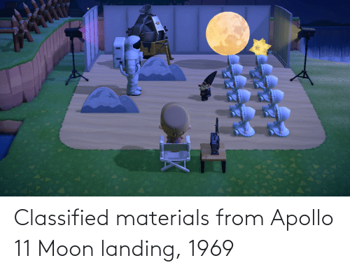 classified: Classified materials from Apollo 11 Moon landing, 1969