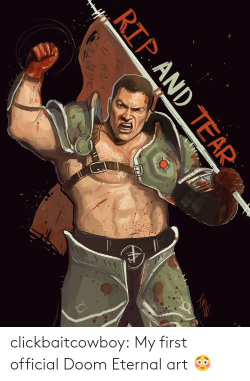 Official: clickbaitcowboy:  My first official Doom Eternal art 😳