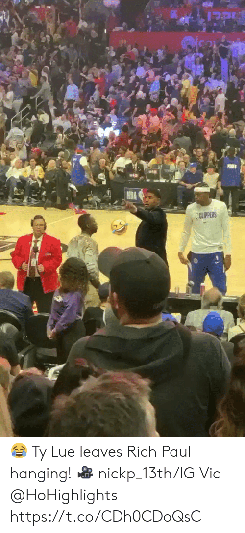 Memes, Clippers, and 🤖: CLIPPERS 😂 Ty Lue leaves Rich Paul hanging!   🎥 nickp_13th/IG Via @HoHighlights    https://t.co/CDh0CDoQsC