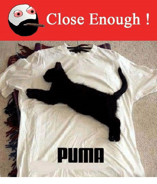 Puma, Close Enough, and Enough: Close Enough!  PUMA