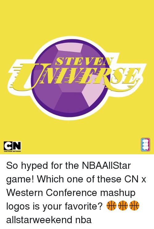 Memes, Nba, and Game: CN  STEVE So hyped for the NBAAllStar game! Which one of these CN x Western Conference mashup logos is your favorite? 🏀🏀🏀 allstarweekend nba