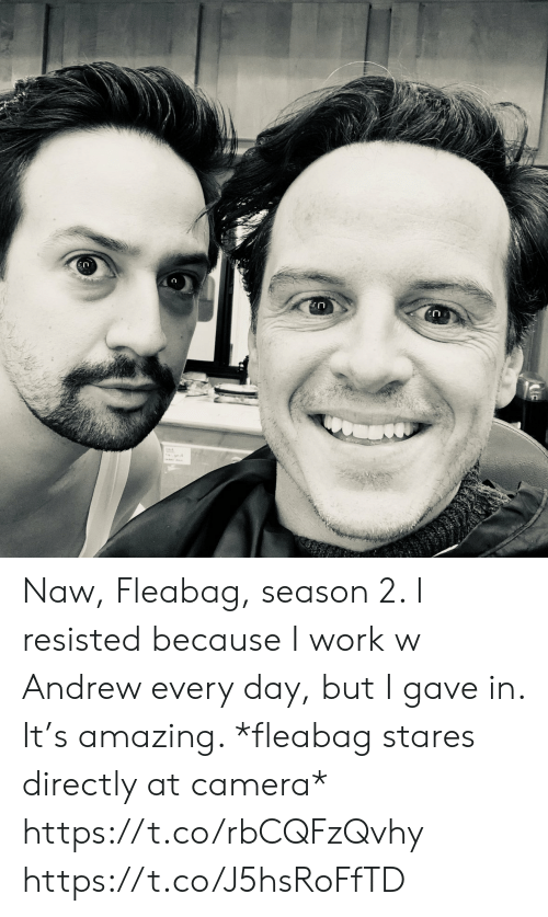 Memes, Work, and Camera: CO Naw, Fleabag, season 2. I resisted because I work w Andrew every day, but I gave in. It's amazing.  *fleabag stares directly at camera* https://t.co/rbCQFzQvhy https://t.co/J5hsRoFfTD