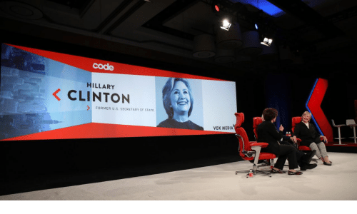 Hillary Clinton, Media, and Vox: code  HILLARY  CLINTON  FORMER U.S. SECRETARY OF STATE  VOX MEDIA