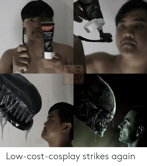 Cosplay, Colgate, and Charcoal: Colgate  CHARCOAL  CLEAN Low-cost-cosplay strikes again
