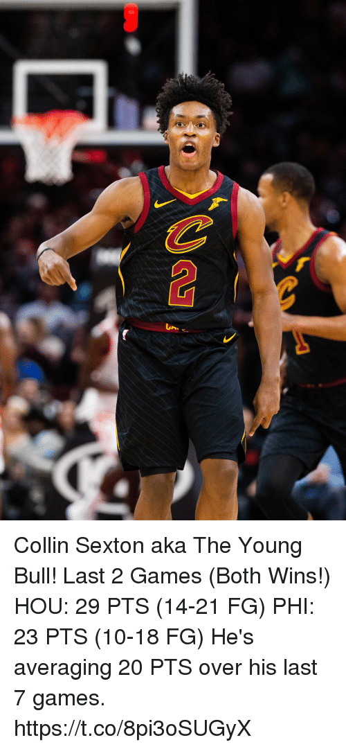 Memes, Games, and 🤖: Collin Sexton aka The Young Bull!   Last 2 Games (Both Wins!) HOU: 29 PTS (14-21 FG) PHI: 23 PTS (10-18 FG)  He's averaging 20 PTS over his last 7 games. https://t.co/8pi3oSUGyX