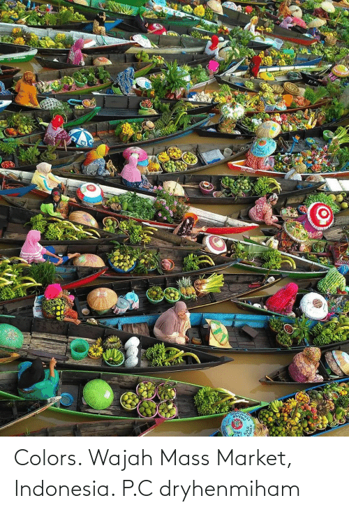 Indonesia: Colors. Wajah Mass Market, Indonesia. P.C dryhenmiham