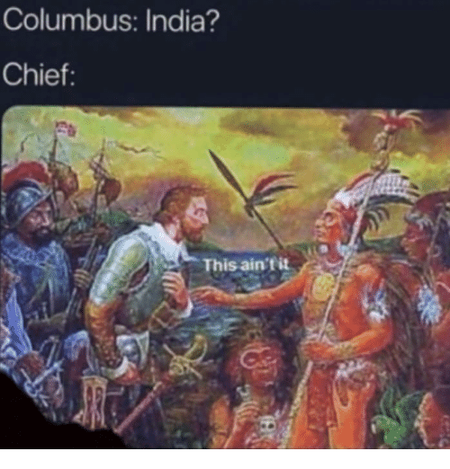 Memes, India, and 🤖: Columbus: India?  Chief:  This ain'tit