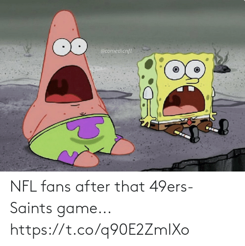 San Francisco 49ers, Football, and Nfl: @comedicnfl NFL fans after that 49ers-Saints game... https://t.co/q90E2ZmIXo