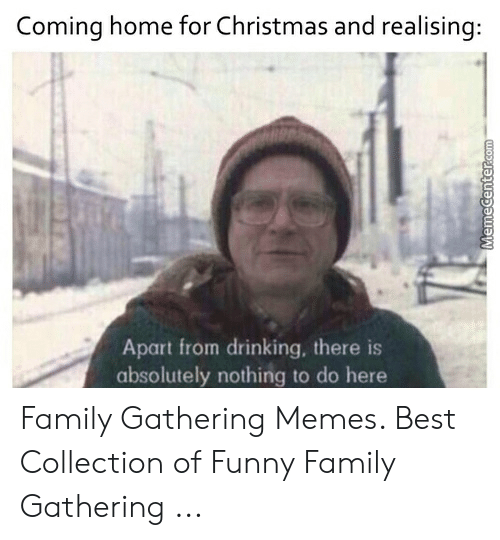 Family Christmas Meme Funny.Coming Home For Christmas And Realising Apart From Drinking