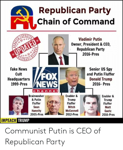 Republican Party: Communist Putin is CEO of Republican Party