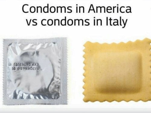 America, Condoms, and In America: Condoms in America  vs condoms in ltaly