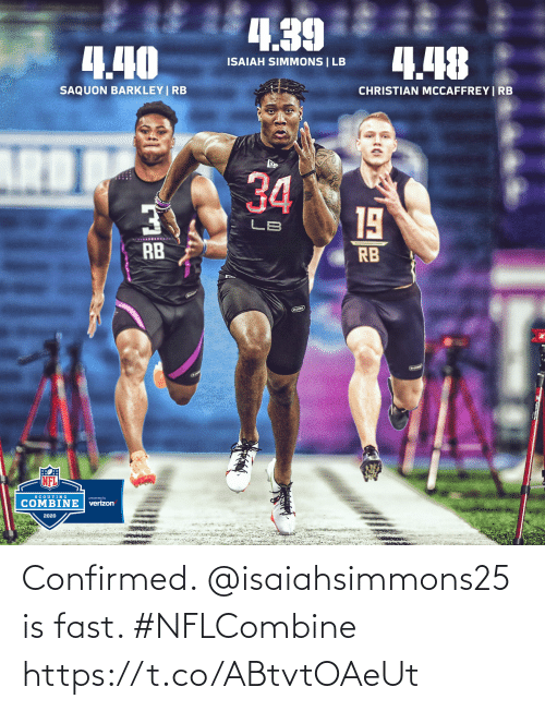 fast: Confirmed. @isaiahsimmons25 is fast. #NFLCombine https://t.co/ABtvtOAeUt