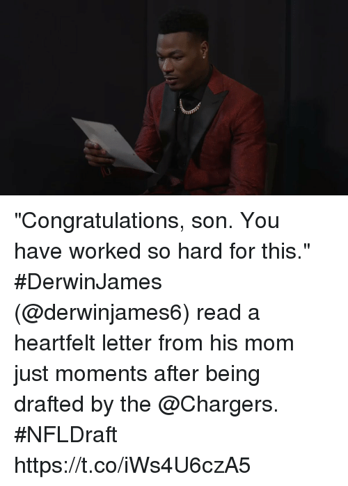Congratulations Son You Have Worked So Hard for This #DerwinJames
