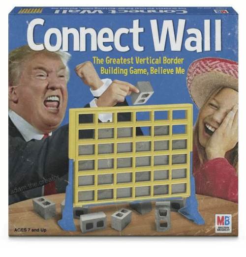 Game, Believe, and Milton: Connect Wall  The Greatest Vertical Border  Building Game, Believe Me  he  MB  AGES 7 and Up  MILTON  RADLEY
