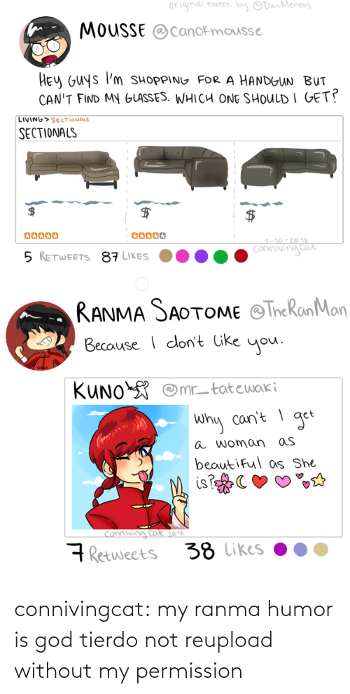 ranma: connivingcat:  my ranma humor is god tierdo not reupload without my permission