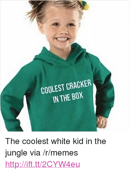 "white kid: COOLEST CRACKER  IN THE BOX  0 <p>The coolest white kid in the jungle via /r/memes <a href=""http://ift.tt/2CYW4eu"">http://ift.tt/2CYW4eu</a></p>"