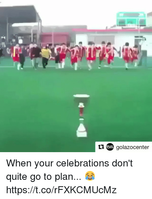 Soccer, Quite, and Celebrations: (COR) golazocenter When your celebrations don't quite go to plan... 😂 https://t.co/rFXKCMUcMz