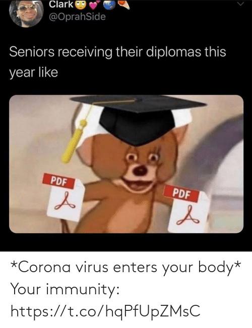 Body: *Corona virus enters your body*  Your immunity: https://t.co/hqPfUpZMsC