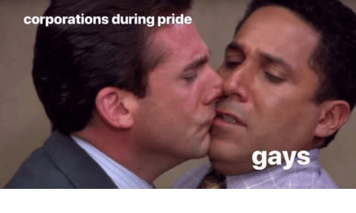 corporations: corporations during pride  gays
