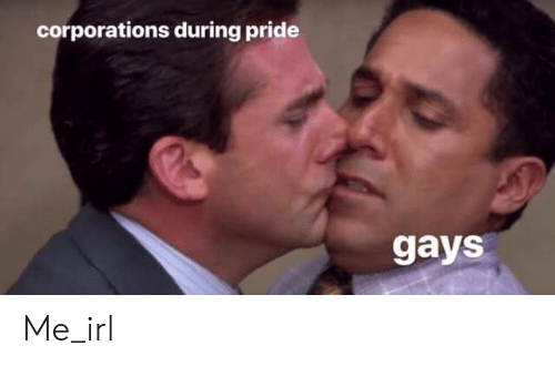 corporations: corporations during pride  gays Me_irl