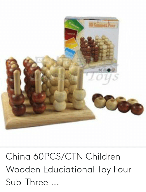 Four Dimensional Chess: Cos  tice  oys China 60PCS/CTN Children Wooden Educiational Toy Four Sub-Three ...