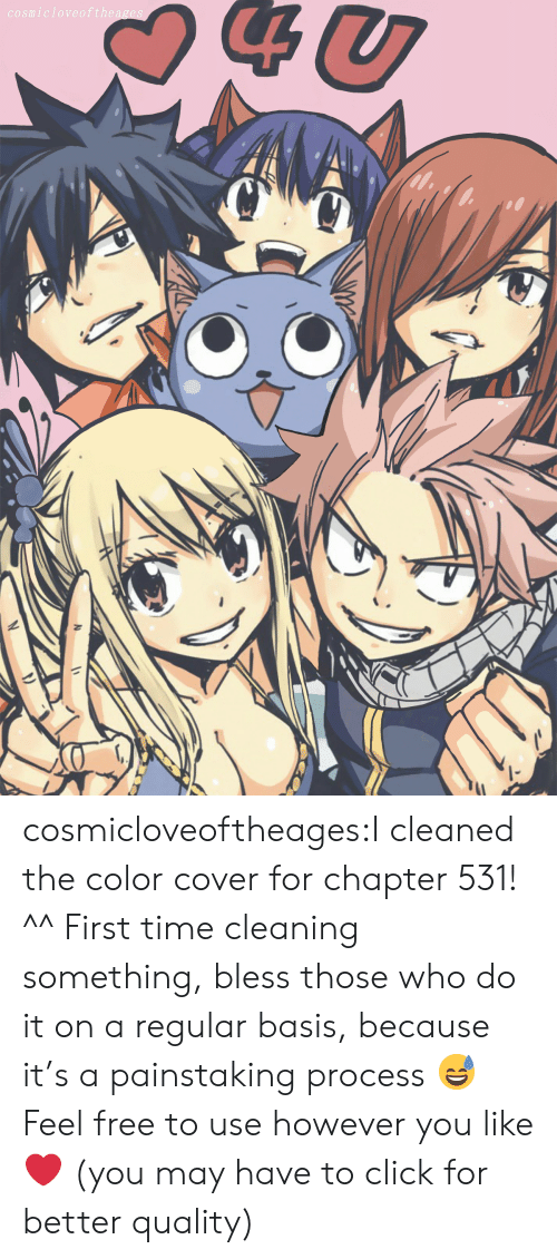 Click, Tumblr, and Blog: cosmicloveofthea cosmicloveoftheages:I cleaned the color cover for chapter 531! ^^ First time cleaning something, bless those who do it on a regular basis, because it's a painstaking process 😅 Feel free to use however you like ❤ (you may have to click for better quality)