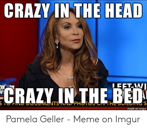 Crazy, Head, and Meme: CRAZY IN THE HEAD  CRAZY.IN THE BED  ar  made on imgur