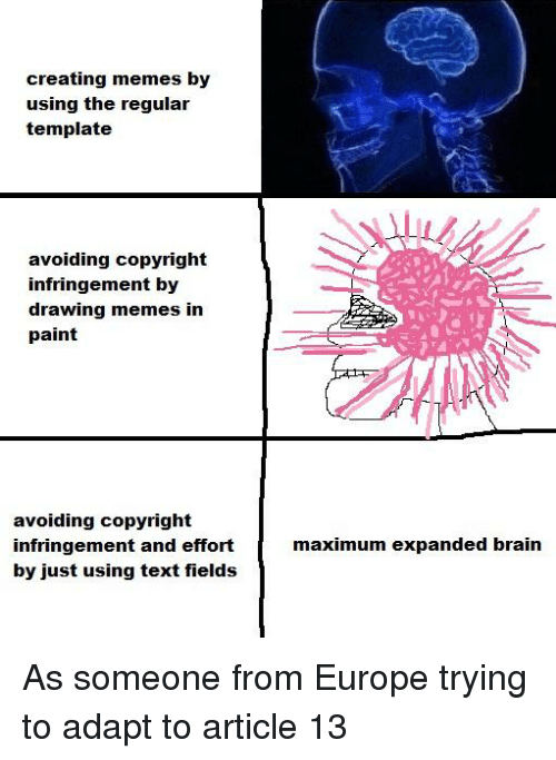 Creating Memes By Using The Regular Template Avoiding Copyright