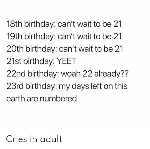 Cries: Cries in adult