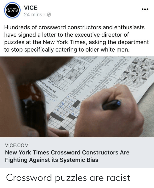 Conservative Memes: Crossword puzzles are racist