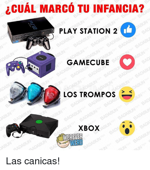 gamecubes: CUAL MARCO TUINFANCIA?  PLAY STATION 2  GAMECUBE  LOS TROMPOS  XBOX  WEREVER  WERD Las canicas!