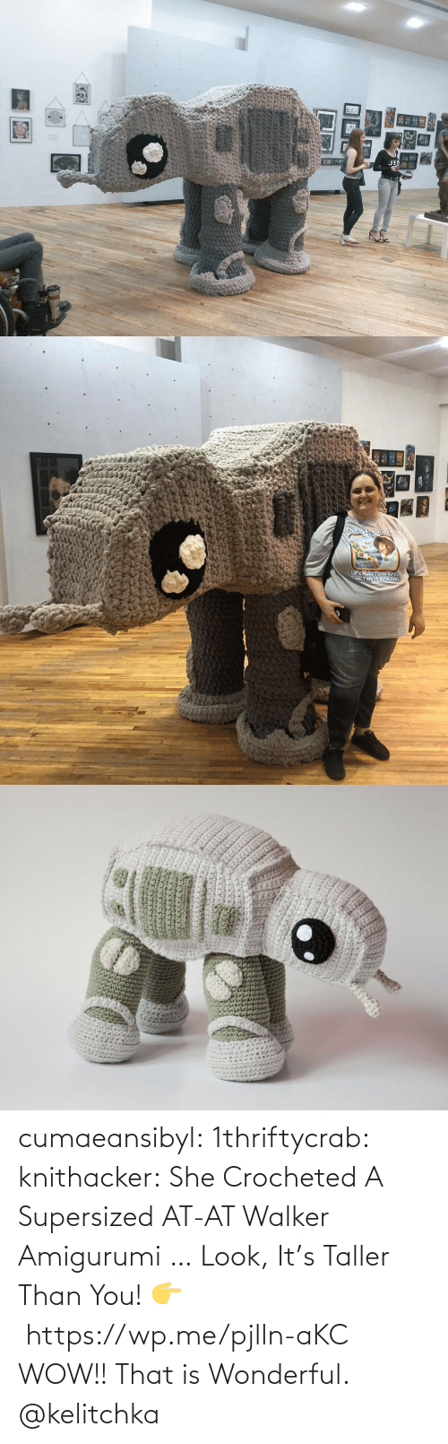 Wow: cumaeansibyl: 1thriftycrab:  knithacker:  She Crocheted A Supersized AT-AT Walker Amigurumi … Look, It's Taller Than You! 👉 https://wp.me/pjlln-aKC  WOW!! That is Wonderful.   @kelitchka