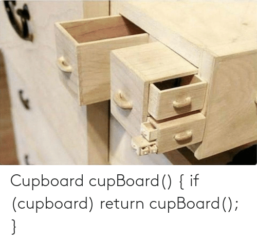 Cupboard and Return: Cupboard cupBoard() { if (cupboard) return cupBoard(); }