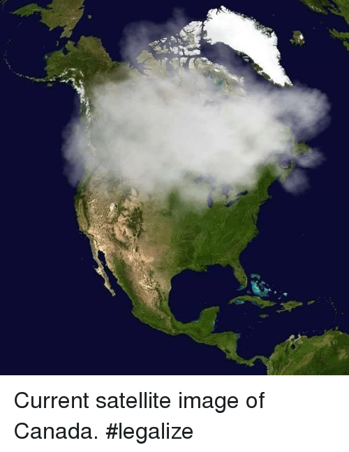 Canada, Image, and Satellite: Current satellite image of Canada. #legalize